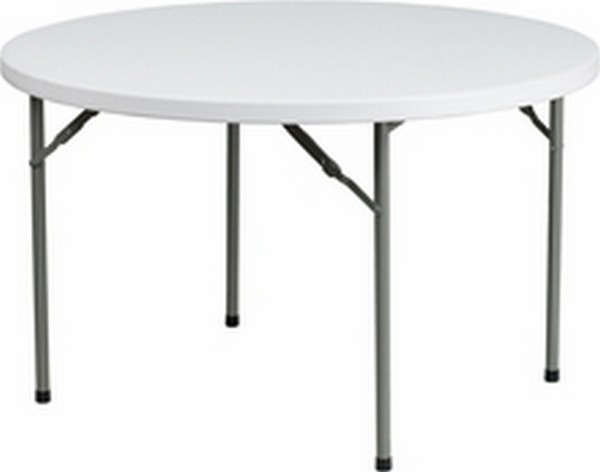 White Plastic Folding Table