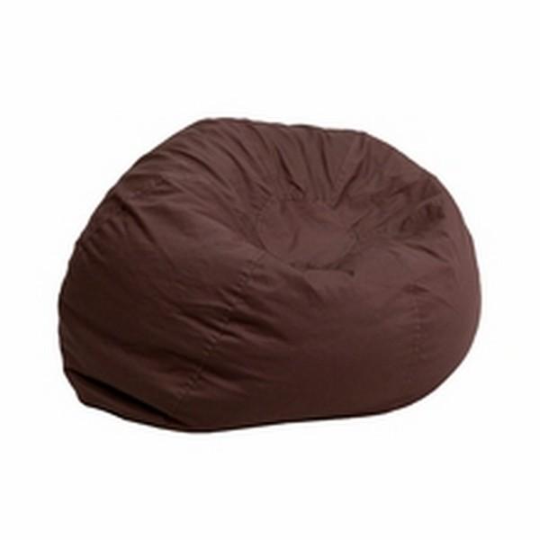 Brown Fabric Kids Bean Bag