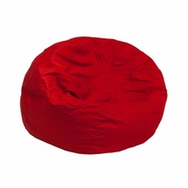 Red Fabric Kids Bean Bag
