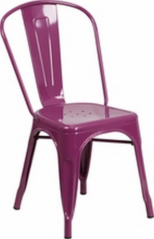 Purple Metal Chair