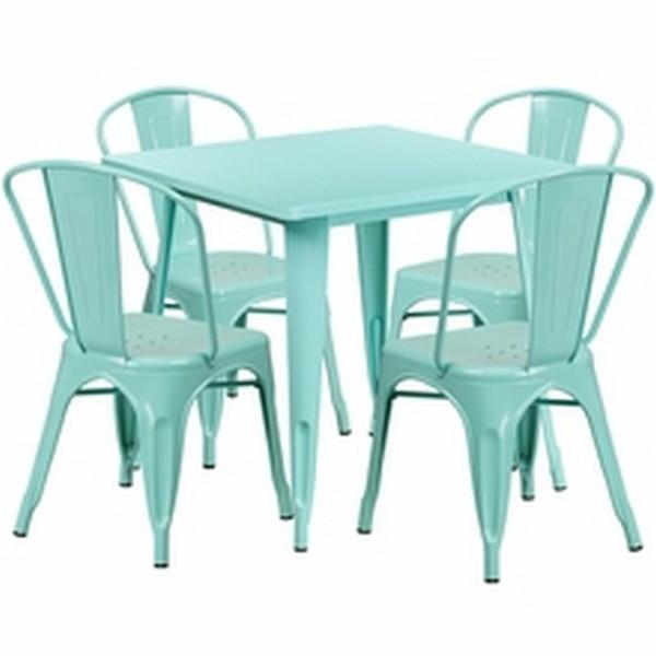 Mint Metal Indoor Table Set