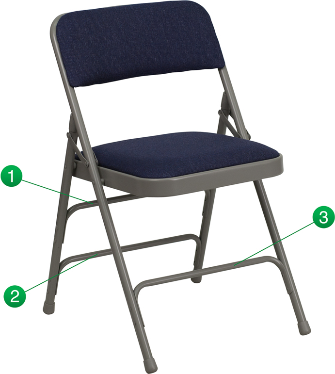 Shoppingideausa Triple Braced Hercules Series Folding Chair