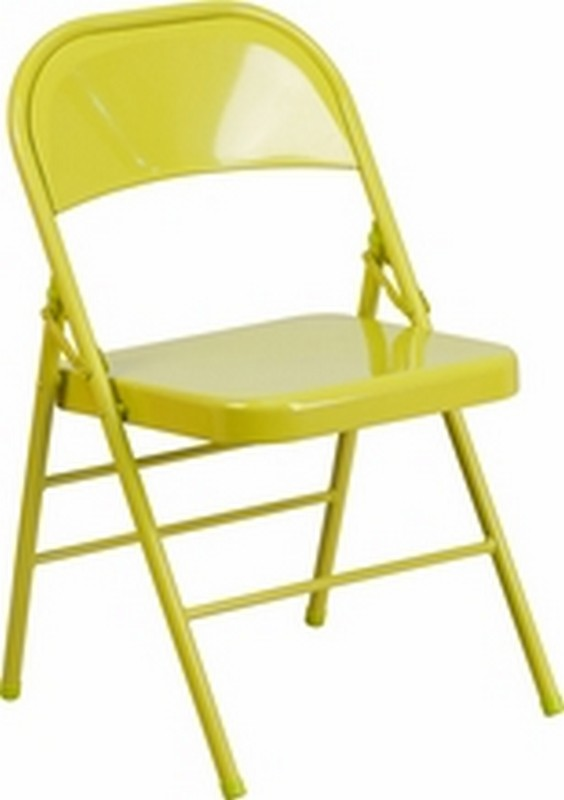 Twisted Citron Folding Chair