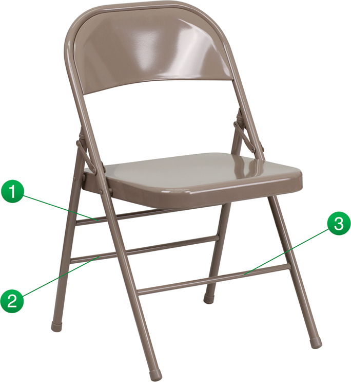 Shoppingideausa  Commercial Grade Folding Chair