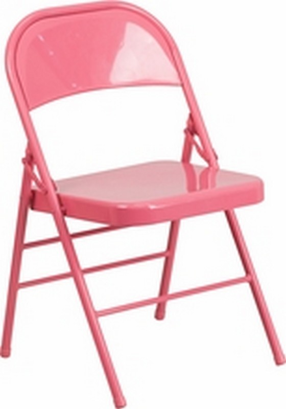 Bubblegum Pink Folding Chair