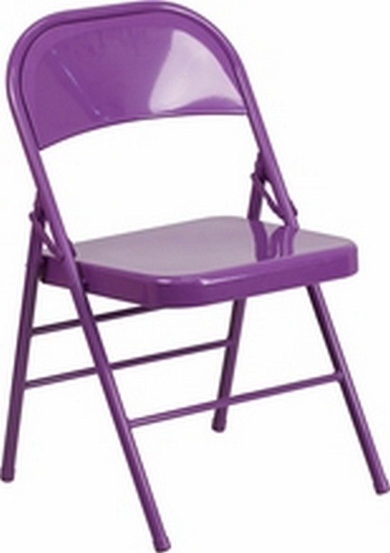 Impulsive Purple Folding Chair