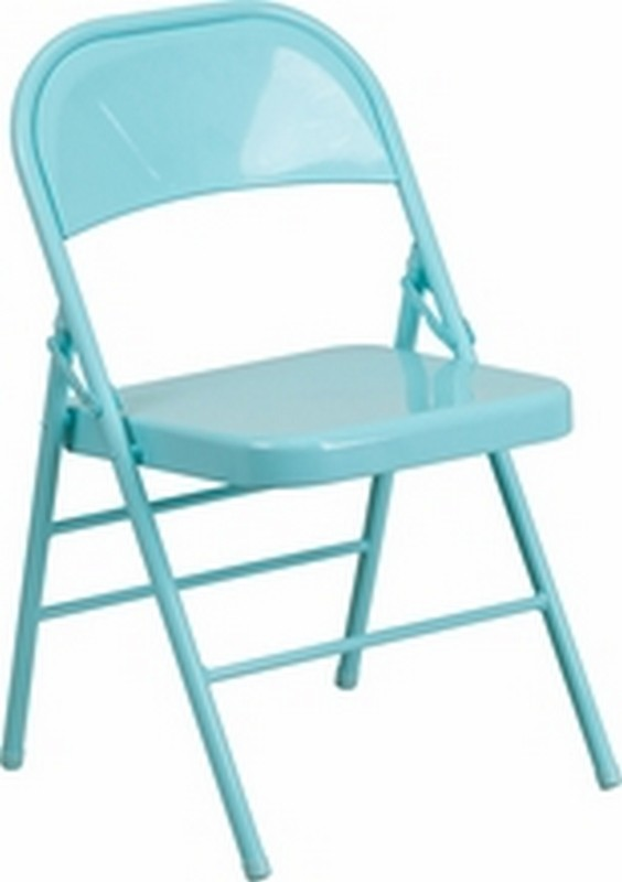 Tantalizing Teal Folding Chair