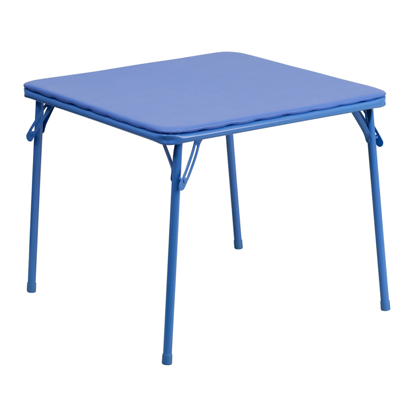 Shoppingideausa  Kids Folding Table .1875'' Thick Blue Top