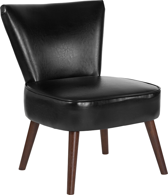 Black Leather Retro Chair