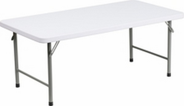 Kid's White Folding Table
