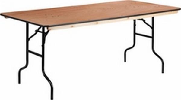 Rectangular Wood Folding Table
