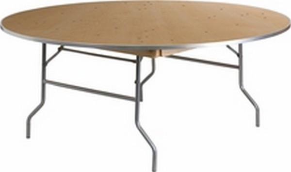 Unfinished Wood Folding Table