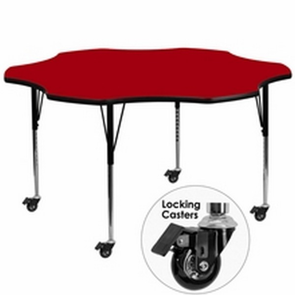 Red Flower Activity Table