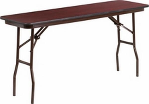 18 X 60 Walnut Folding Table