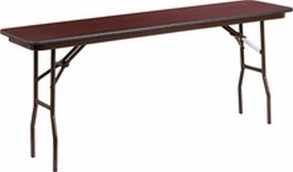18 X 72 Walnut Folding Table