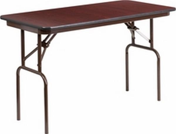 24 X 48 Walnut Folding Table