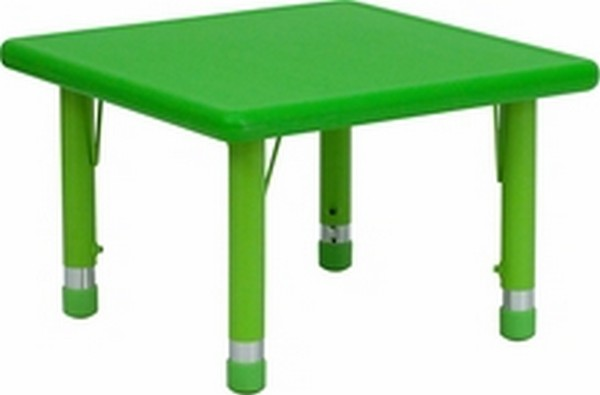 Green preschool activity table