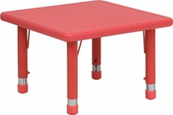Red Preschool Activity Table