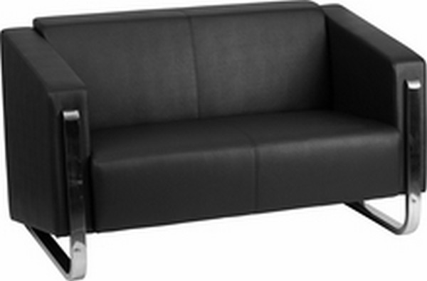 Black Leather Loveseat