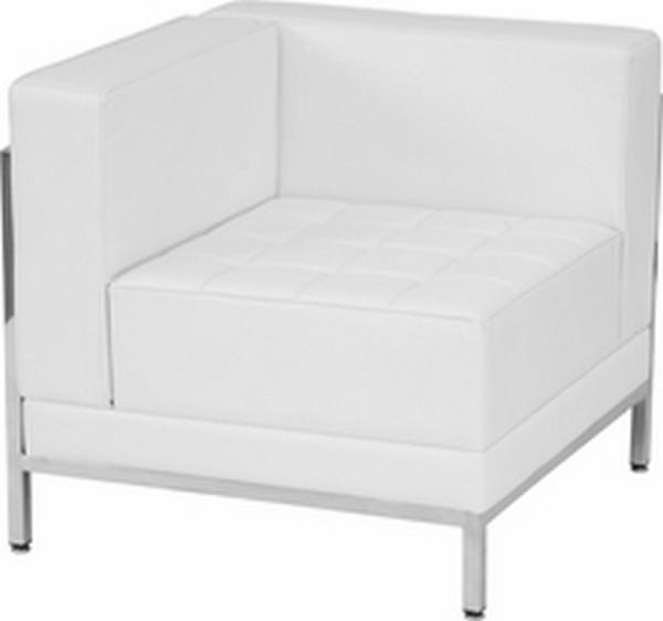 White Left Corner Chair