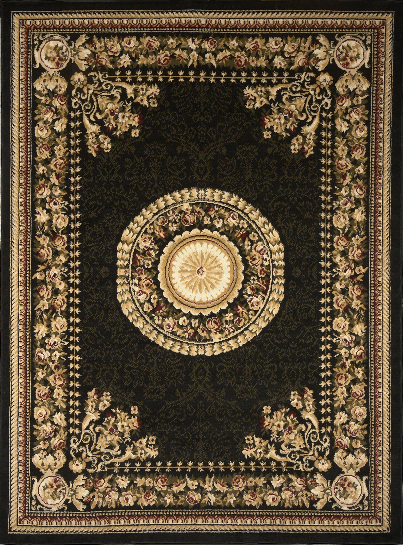 Optimum Rug Machine Woven  Black Area Rugs