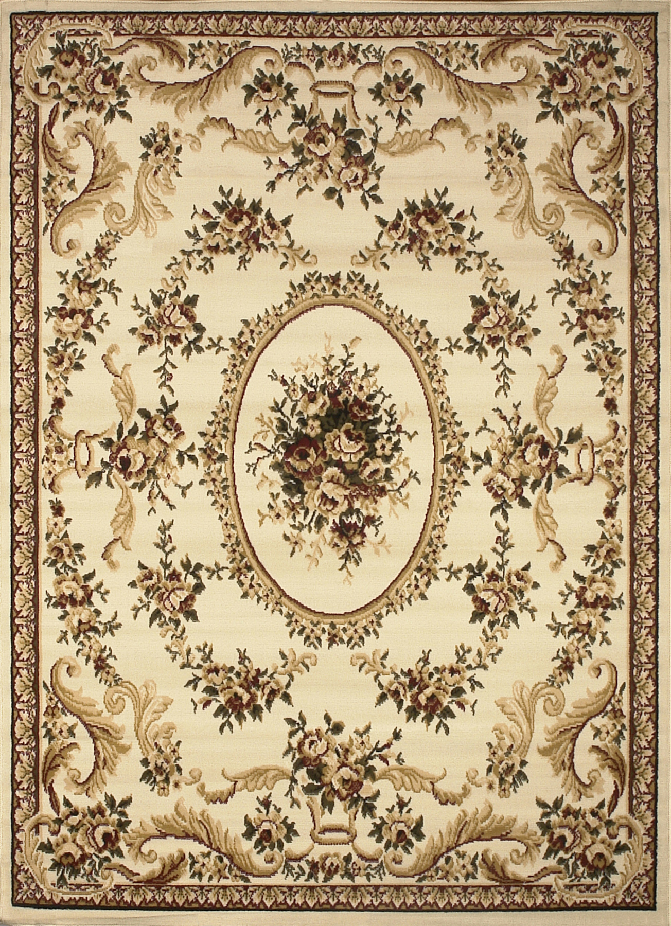 Royalty Rug Machine Woven  Ivory Area Rugs
