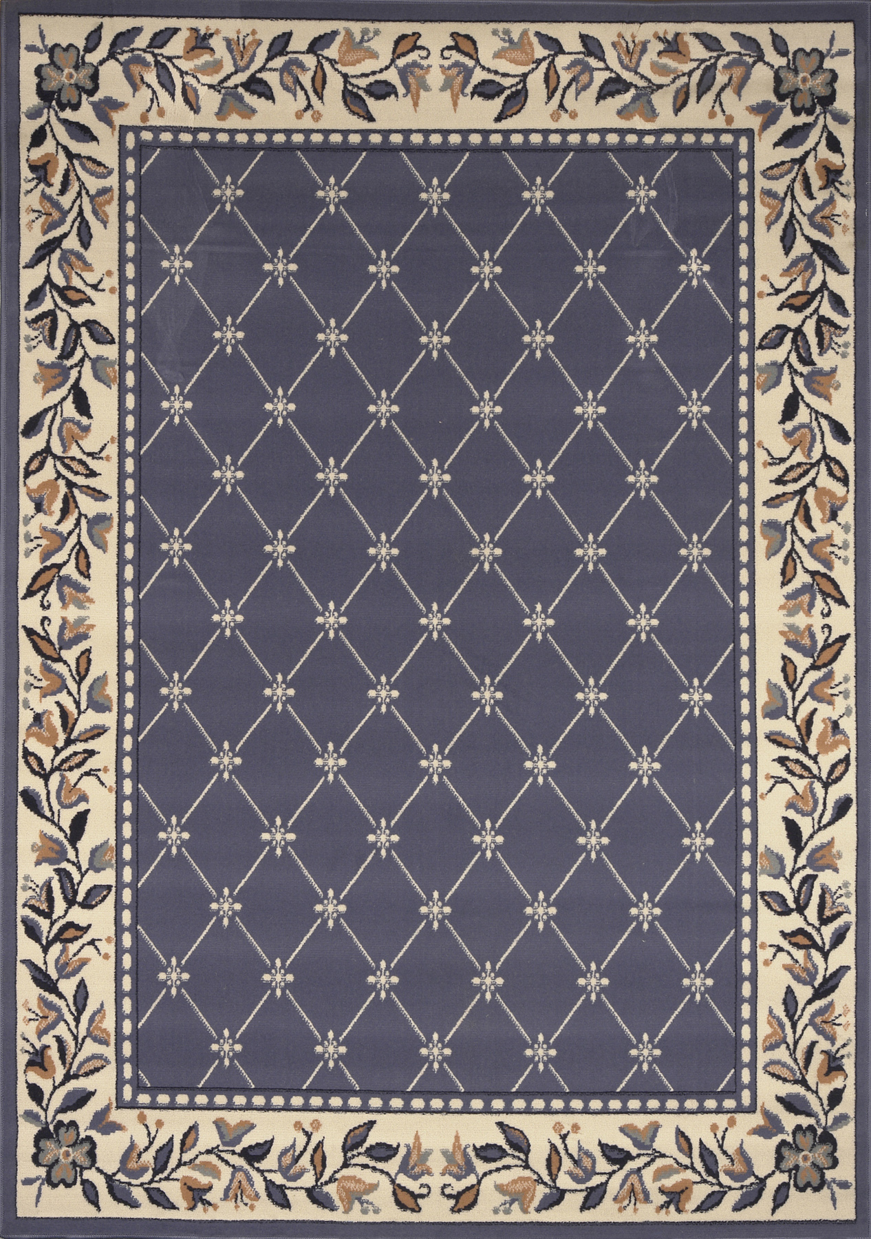 Premium Rug Machine Woven  Country Blue Area Rugs