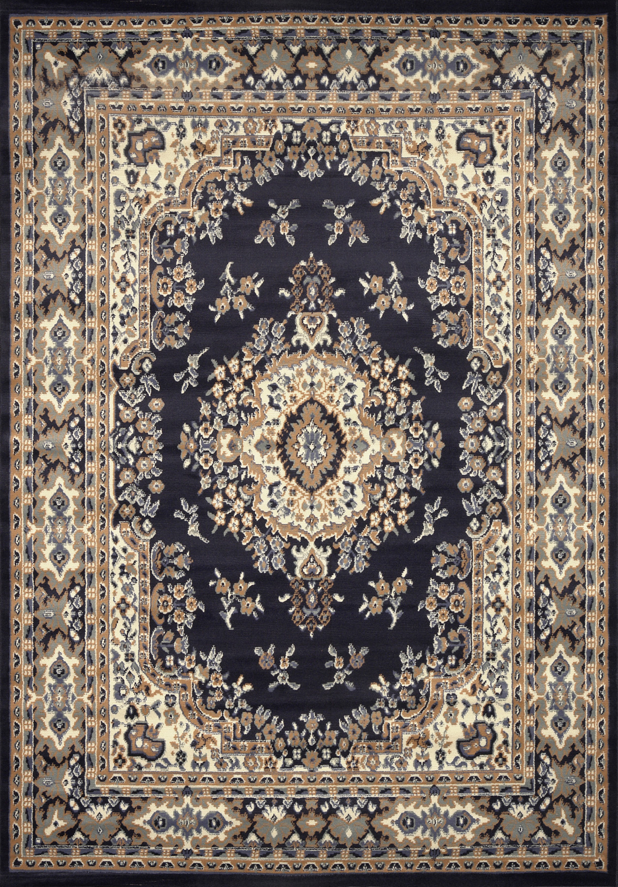 Ariana Navy Blue Area Rugs