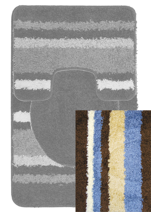 Avalon Mat Mat Machine Tufted  Brown Blue Area Rugs