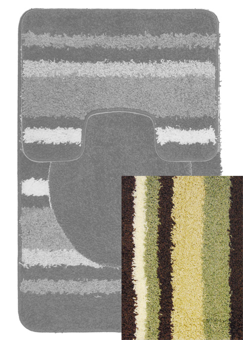 Avalon Mat Mat Machine Tufted  Brown Sage Area Rugs