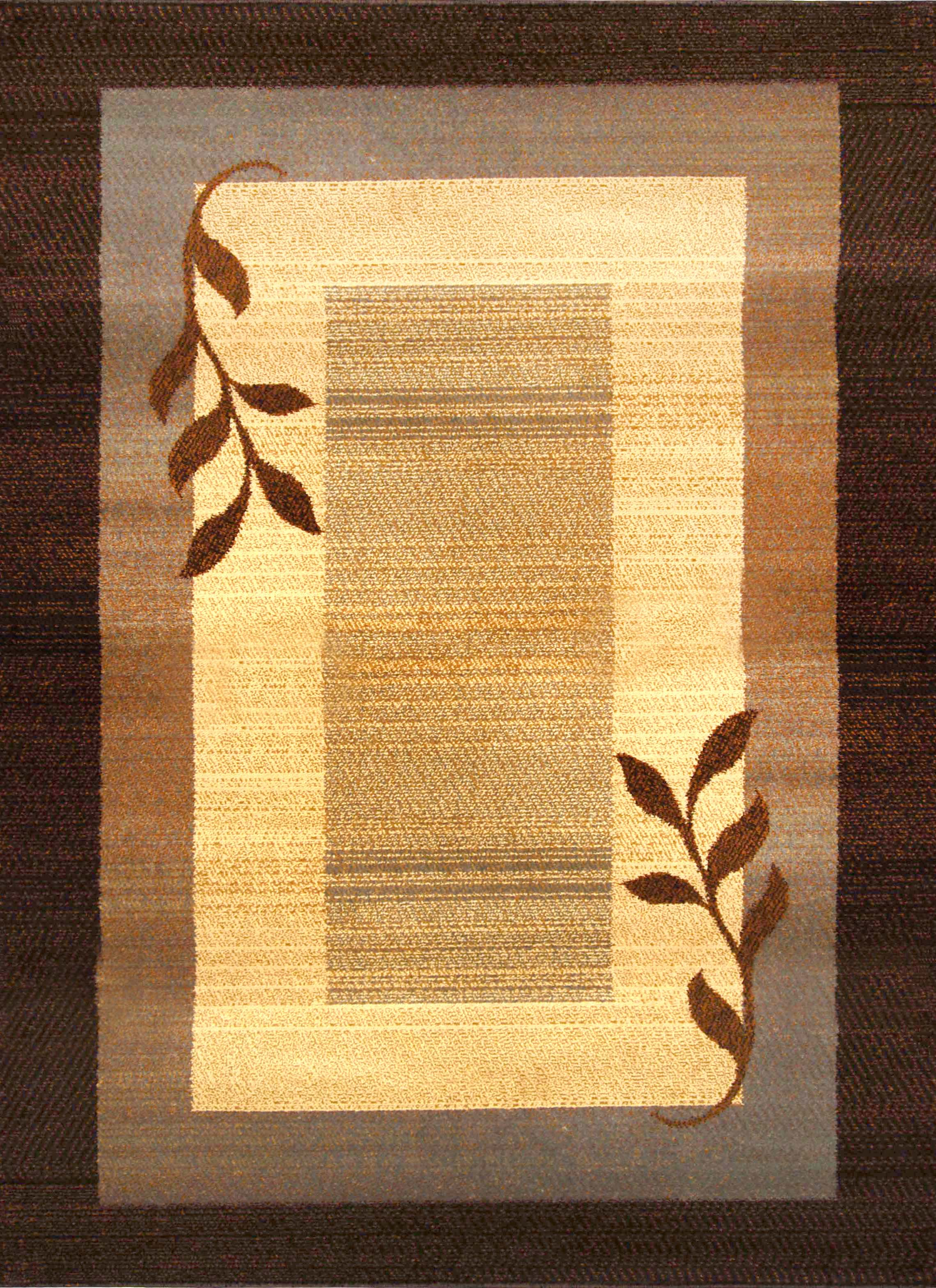 Royalty Rug Machine Woven  Brown Blue Area Rugs
