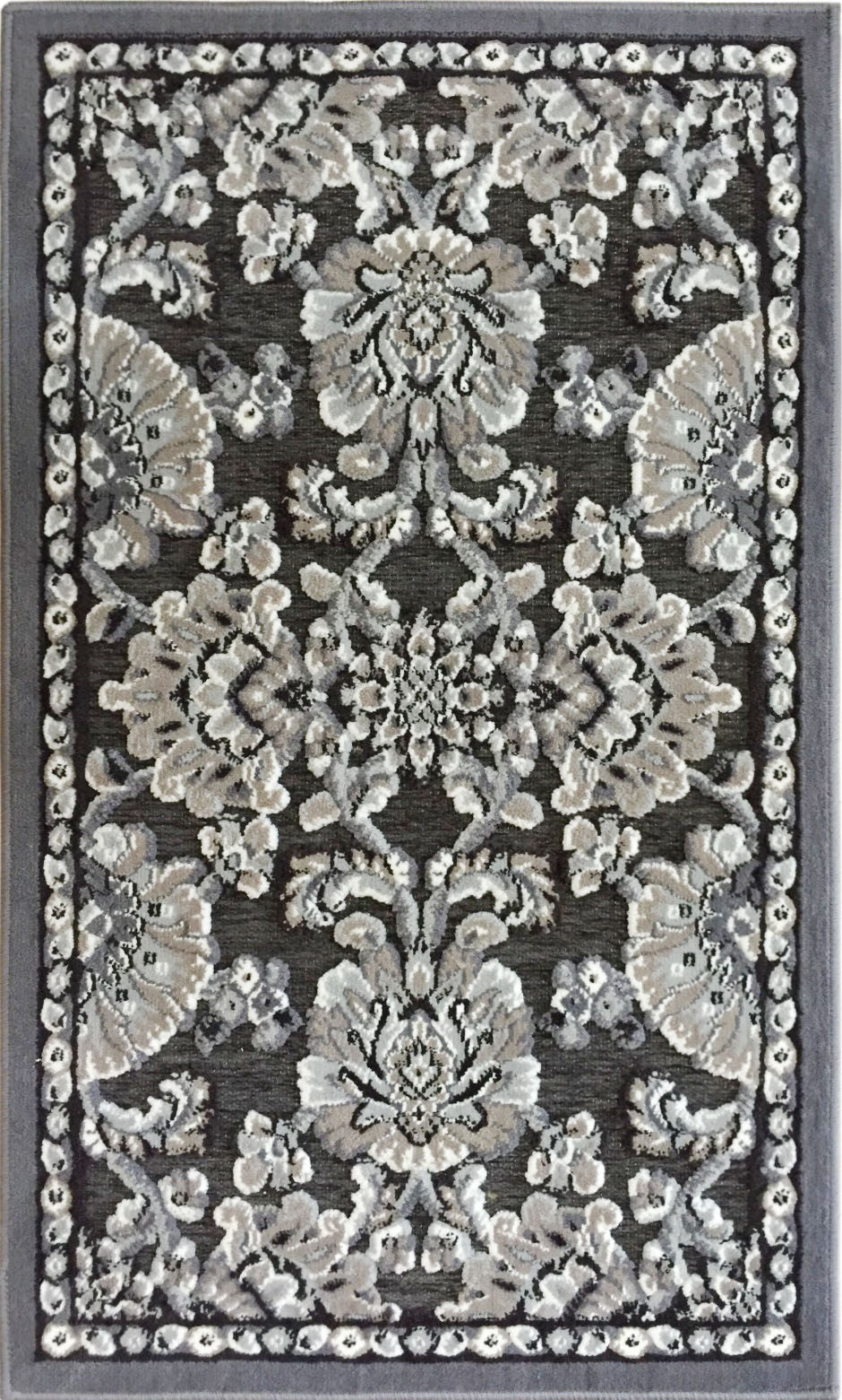 Airrington Mat Machine Woven  Gray Area Rugs