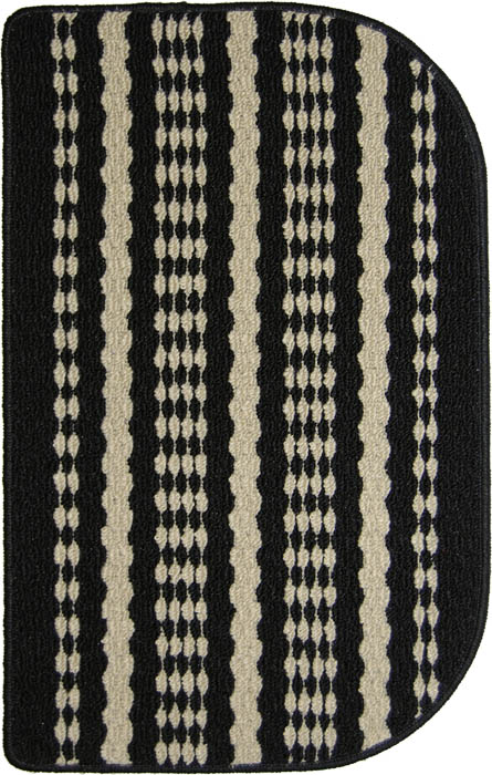 Hudson Mat Machine Tufted   Black Beige Area Rugs