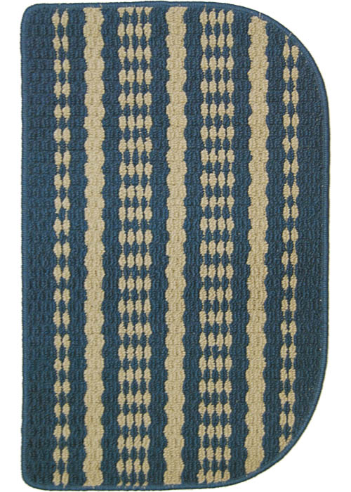 Hudson Mat-machine Tufted   Blue-beige Area Rugs
