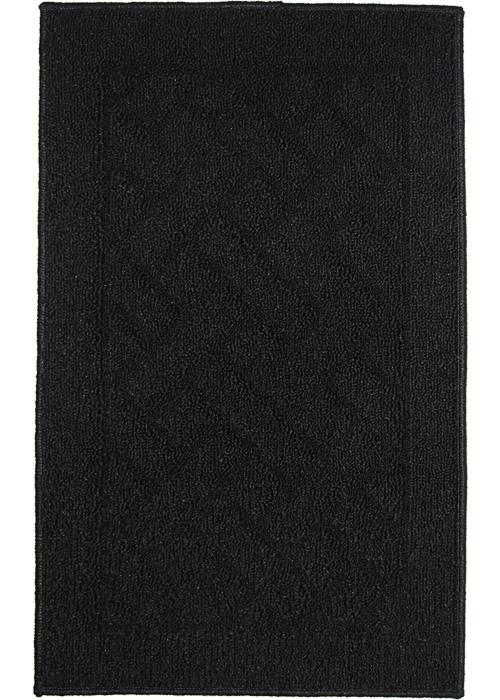 Latrice Mat Machine Tufted   Black Area Rugs
