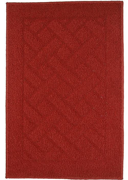 Latrice Mat Machine Tufted   Brick Red Area Rugs
