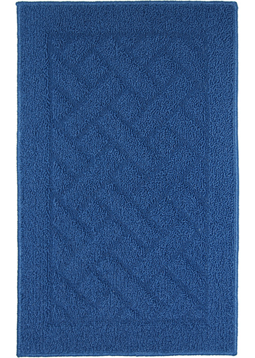 Latrice Mat Machine Tufted   Navy Blue Area Rugs