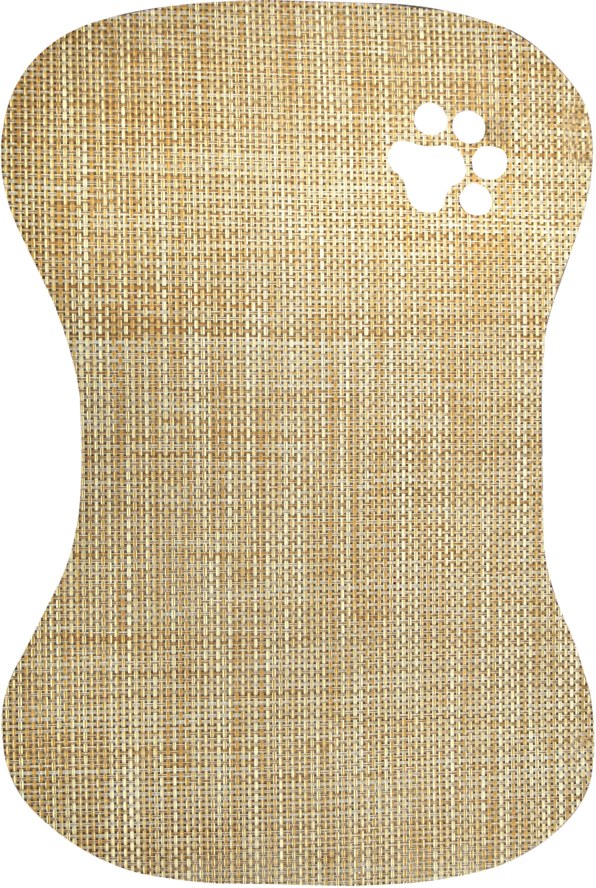 Bowl Mat Mat-die Cut Tan Area Rugs