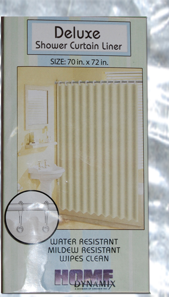 Shower Curtain Deluxe Liner Clear-frost 70 X 72  Clear