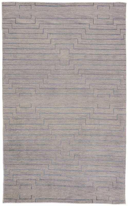Jaipur Living Lara Hand-Knotted Geometric Light Gray/ Silver Area Rug