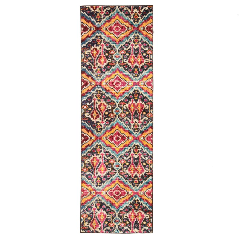 Jaipur Living Rex Ikat Multicolor Runner Rug