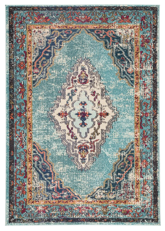 Jaipur Living Caba Medallion Blue/ Pink Area Rug