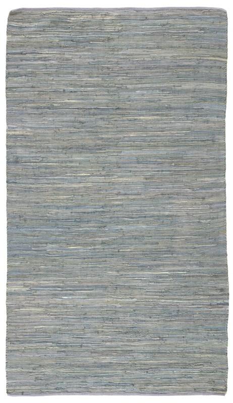 Jaipur Living Raggedy Handmade Solid Blue/ Gray Area Rug
