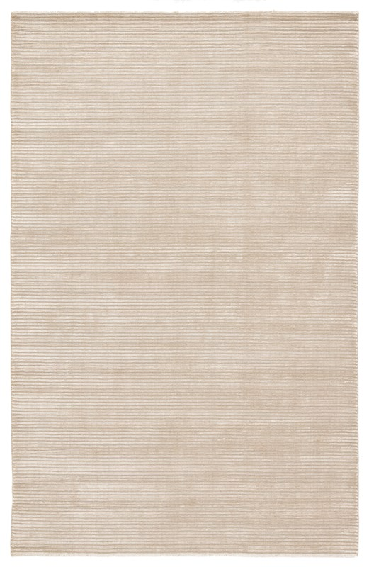 Jaipur Living Basis Handmade Solid White/ Taupe Area Rug