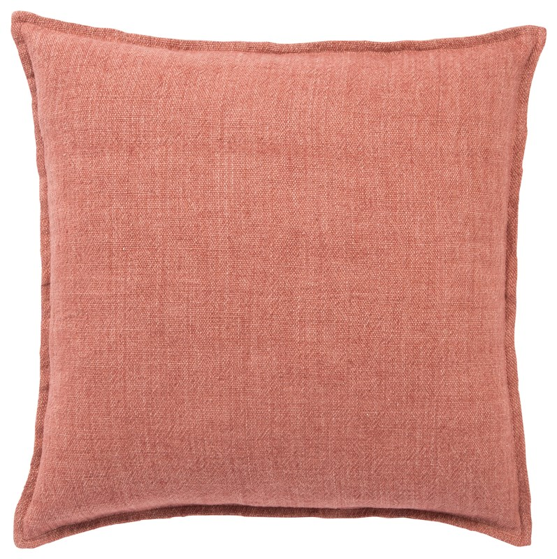 Jaipur Living Blanche Solid Red Poly Throw Pillow