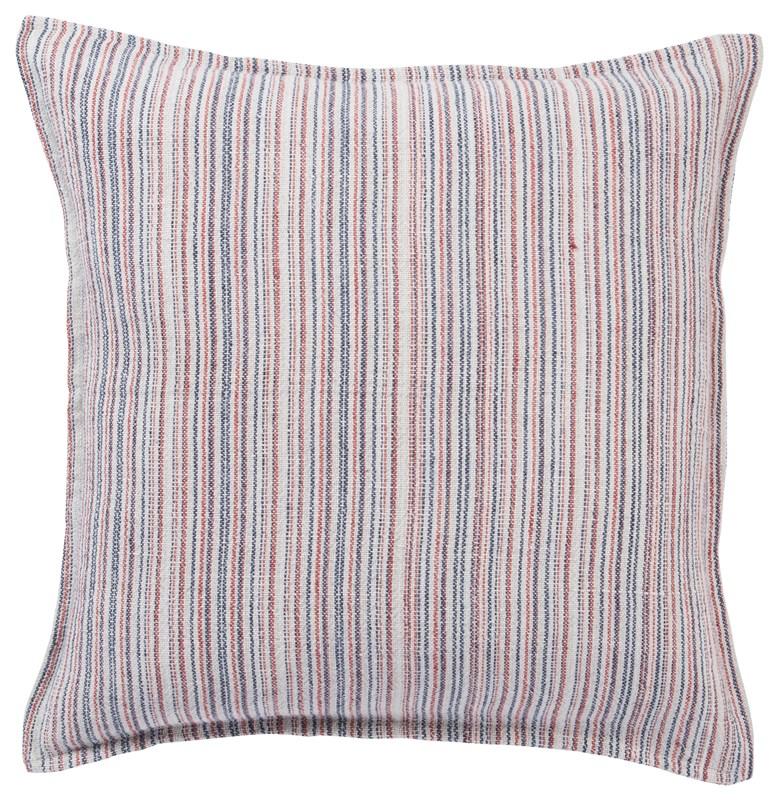 Jaipur Living Taye Stripe Red/ Blue Poly Throw Pillow