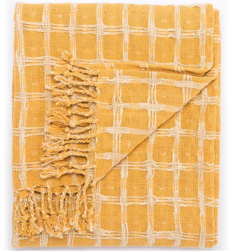 Jaipur Living Steeler Yellow/ Cream Geometric Throw