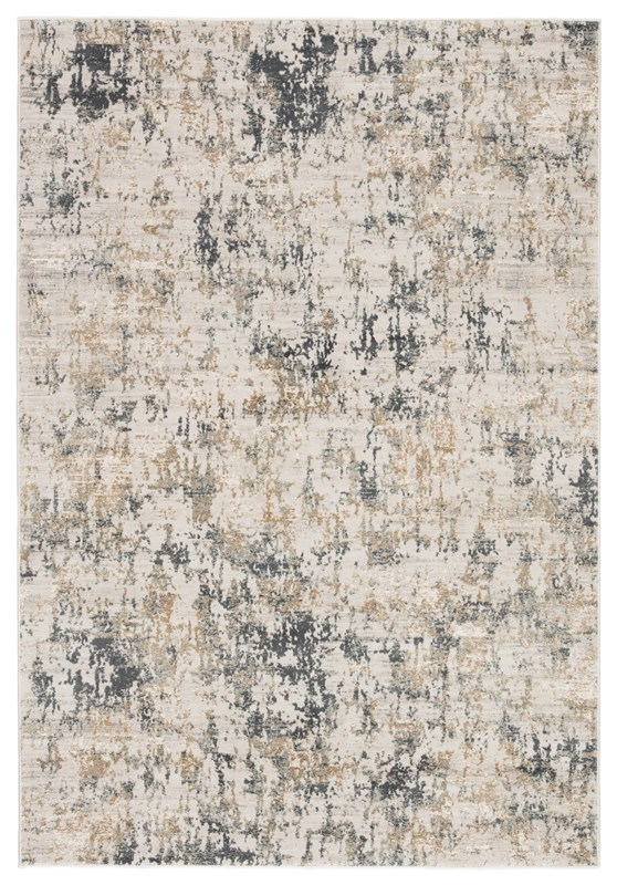 Jaipur Living Arvo Abstract White/ Dark Gray Area Rug