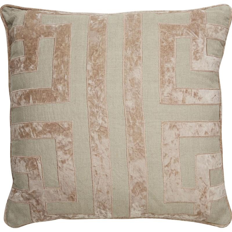 Nikki Chu By Jaipur Living Ordella Beige/ Pink Geometric Poly Throw Pillow