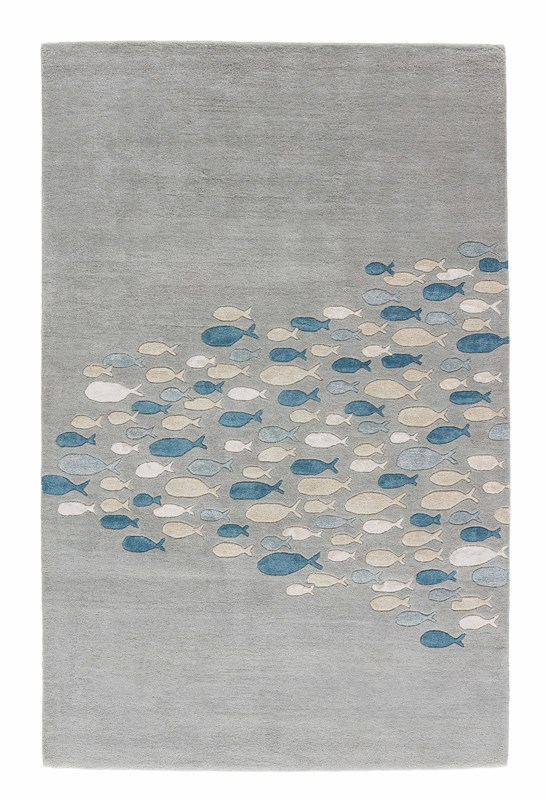 Jaipur Living Schooled Handmade Animal Gray/ Blue Area Rug